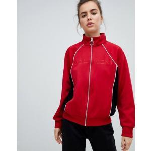 ボルコム レディース ジャケット・ブルゾン アウター Volcom track jacket in red revida