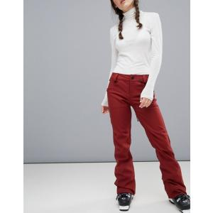 ボルコム レディース カジュアルパンツ ボトムス Volcom Species stretch ski pants in red|revida