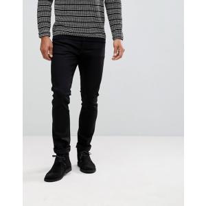 ヌーディージーンズ メンズ デニムパンツ ボトムス Nudie Jeans Co Tilted Tor skinny jeans in cold black|revida