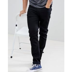 ヌーディージーンズ メンズ デニムパンツ ボトムス Nudie Jeans Co Lean Dean jeans in ever black|revida