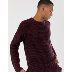 ヌーディージーンズ メンズ ニット・セーター アウター Nudie Jeans Co Hampus sweater in plum|revida