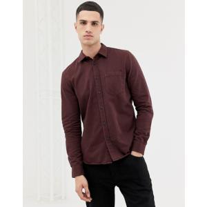 ヌーディージーンズ メンズ シャツ トップス Nudie Jeans Co Henry button down shirt in plum|revida