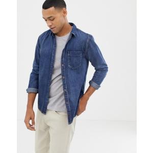 ヌーディージーンズ メンズ シャツ トップス Nudie Jeans Co Henry denim button down shirt|revida