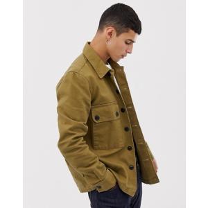 ヌーディージーンズ メンズ シャツ トップス Nudie Jeans Co Sten military shirt in khaki|revida