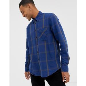 ヌーディージーンズ メンズ シャツ トップス Nudie Jeans Co Sten window check shirt in blue|revida