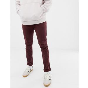 ヌーディージーンズ メンズ カジュアルパンツ ボトムス Nudie Jeans Co Slim Adam chinos in plum|revida