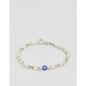 902058d8e63d アイコンブランド メンズ ブレスレット・バングル・アンクレット アクセサリー Icon Brand beaded bracelet in cream