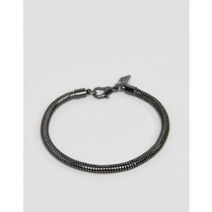 6b562e0861ce アイコンブランド メンズ ブレスレット・バングル・アンクレット アクセサリー Icon Brand chain bracelet in gunmetal