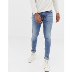 ヌーディージーンズ メンズ デニムパンツ ボトムス Nudie Jeans Co Skinny Lin jeans old blues|revida