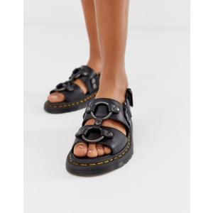 ドクターマーチン レディース サンダル シューズ Dr Martens Xabier hardware leather sandals in black|revida