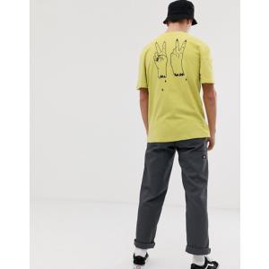 ボルコム メンズ Tシャツ トップス Volcom Cut Rope t-shirt with back print in green|revida
