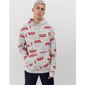 ボルコム メンズ パーカー・スウェット アウター Volcom Garage all over print hoodie in white|revida
