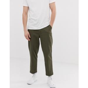 エイソス メンズ カジュアルパンツ ボトムス ASOS DESIGN relaxed pants with front crease in khaki|revida