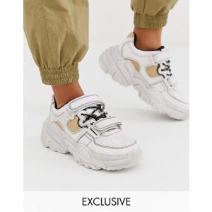 ベルシュカ レディース スニーカー シューズ Bershka chunky sneakers wit...