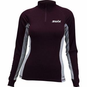 スウィックス レディース Tシャツ トップス RaceX Bodywear 1/2-Zip Top