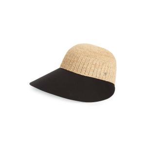 ヘレンカミンスキー レディース 帽子 アクセサリー Helen Kaminski Wide Peak Raffia & Cotton Cap|revida