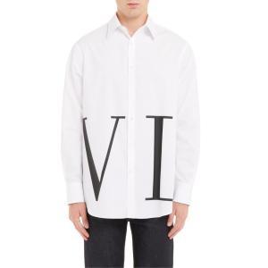 ヴァレンティノ メンズ シャツ トップス Valentino VLTN Print Shirt|revida