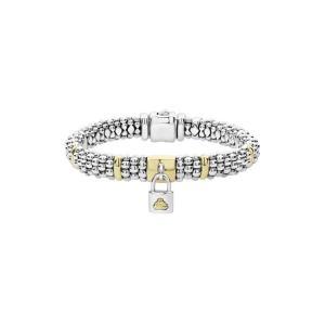 9c506542d ラゴス レディース ブレスレット・バングル・アンクレット アクセサリー LAGOS Beloved Charm Lock Caviar Rope  Bracelet
