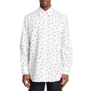 ヴァレンティノ メンズ シャツ トップス Valentino Logo Slim Fit Shirt|revida