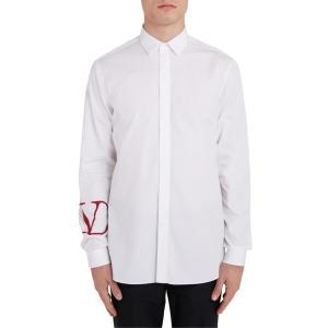 ヴァレンティノ メンズ シャツ トップス Valentino Logo Graphic Slim Fit Shirt|revida