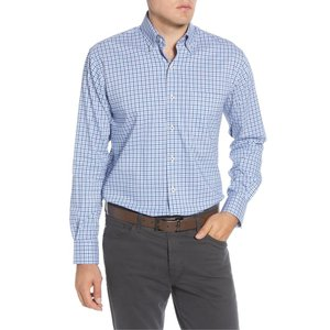 ピーター・ミラー メンズ シャツ トップス Peter Millar Park City Regular Fit Stretch Check Button-Down Sport Shirt|revida