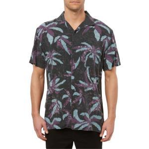 オニール メンズ シャツ トップス O'Neill Spliit Palm Leaves Short Sleeve Button-Up Camp Shirt|revida