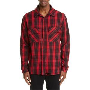 マルセロバーロン メンズ シャツ トップス Marcelo Burlon County Check Plaid Button-Up Flannel Shirt|revida