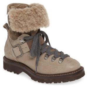 ブルネロ・クチネリ レディース ブーツ・レインブーツ シューズ Brunello Cucinelli Genuine Shearling Lined Hiking Boot (Women) revida