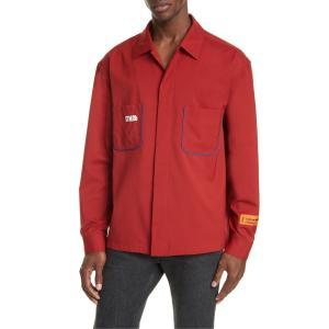 ヘロンプレストン メンズ シャツ トップス Heron Preston CTNMB Piped Button-Up Wool Blend Worker Shirt|revida