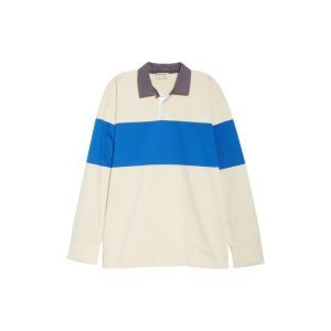 マルニ メンズ シャツ トップス Marni Long Sleeve Rugby Shirt (Nordstrom Exclusive)|revida