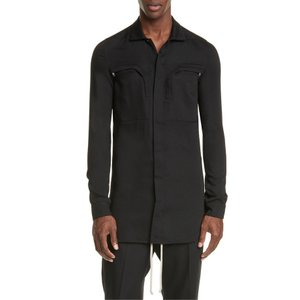リックオウエンス メンズ シャツ トップス Rick Owens Camica Wool Office Shirt|revida