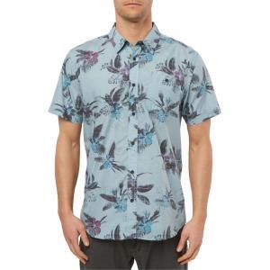 オニール メンズ シャツ トップス O'Neill Fiiore Floral Print Short Sleeve Button-Up Shirt|revida