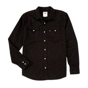 リーバイス メンズ シャツ トップス Levi'sR Young Men's Slim Fit Barstow Solid Snap-Front Denim Shirt|revida