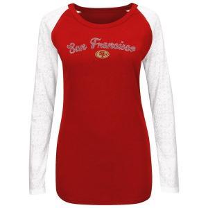 マジェスティック レディース Tシャツ トップス San Francisco 49ers Majestic Womens Coin Toss IV Long Sleeve T-Shirt