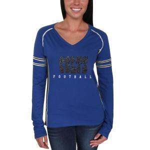 マジェスティック レディース Tシャツ トップス Indianapolis Colts Majestic Women's Deep Fade Route Long Sleeve T-Shirt