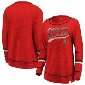 ファナティクス ブランデッド レディース Tシャツ トップス Ottawa Senators Fanatics Branded Women's Giant Dreams Speckle Long Sleeve T-Shir