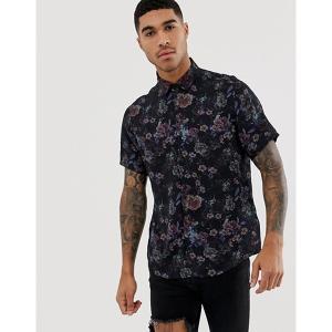エイソス メンズ シャツ トップス ASOS DESIGN regular fit floral shirt|revida