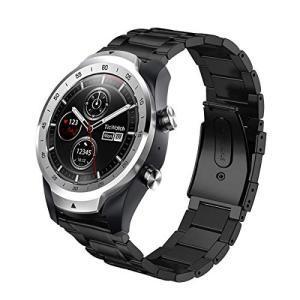 Karzenth Compatible Ticwatch Pro/Fossil Q Explorist バンド 22mmステンレス製 調整工具付属 高|revolmarket