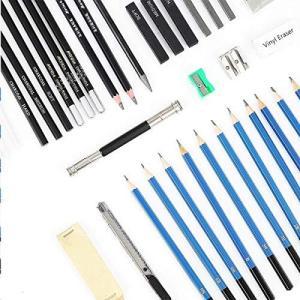 TOPERSUN スケッチ鉛筆 スケッチ用の鉛筆セット デッサン鉛筆 45点セット ポータブル デッサンツール 素描 初心者 美術系学生 収納ケーズ付|revolmarket