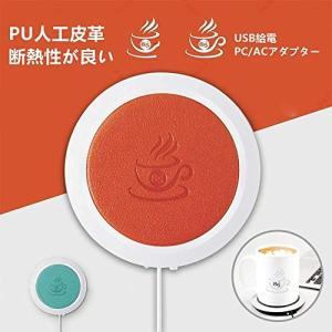 BigFox USBホッとコースター ドリンク 保温 カップウォーマー マグカップ 温かい お茶 コーヒー PU皮革 耐熱 (おレジン)|revolmarket