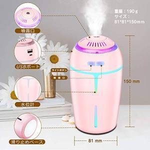 BNOYCEI 加湿器 超音波式 加湿器 超静音 卓上加湿器 高分子霧化 放射ゼロ 空焚き防止機能搭載 七色に光るイルミネーション|revolmarket