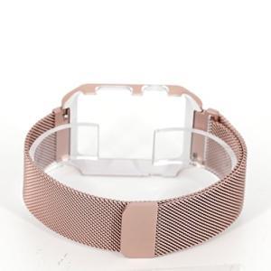 アップルウォッチ/Apple watch用交換バンド ミラネーゼループ ステンレスメッシュ 本体保護カバー一体型 38mm/42mm 全4色 (38m|revolmarket