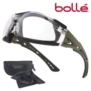 Bolle セーフティグラス Rush Plus クリアレンズ ガスケット付 メンズ アイウェア 保護眼鏡 保護メガネ 曇り止め ボレー