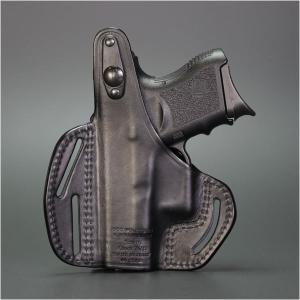 ブラックホーク ホルスター GLOCK26 革 3スロット パンケーキ 420005BK-R Blackhawk Glock 27 33 右利き|revolutjp