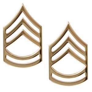 Rothco ピンバッジ 米軍階級章 一等軍曹 2個セット ピンズ ミリタリーバッジ ミリタリーバッチ 記章 徽章 襟章 肩章 胸章 袖章 臂章|revolutjp