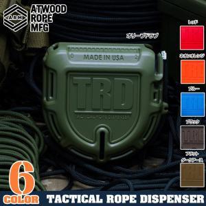 ATWOOD ROPE 15mパラコード付 ロープディスペンサー TRD パラシュートコード 綱 靴紐 靴ひも シューレース ケース 収納 50FT revolutjp
