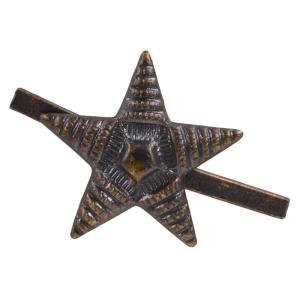 チェコ軍放出品 ピンズ 星形スタッズ 横縞タイプ スター スタッズベルト 革細工 レザークラフト材料 メンズベルト自作 ハンドメイド リベット|revolutjp