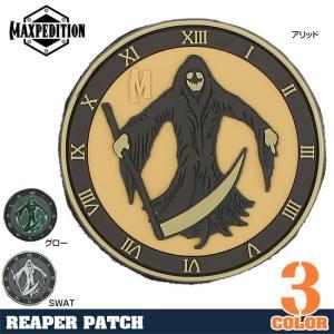 MAXPEDITION パッチ 死神 ベルクロ PVC製 マックスペディション Reaper Grim ミリタリーワッペン ミリタリーパッチ|revolutjp