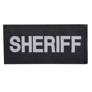 BLACKHAWK ミリタリーワッペン SHERIFF ベルクロ 67×140mm ブラックホーク ミリタリーパッチ アップリケ 保安官 カウボーイ|revolutjp