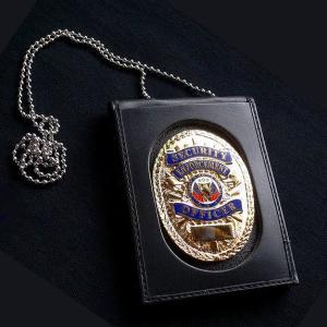 ストロング ID&ポリスバッジホルダー 71600 ネックチェーン 楕円 革製 IDカード&ポリスバッジホルダー -040 楕円型(オーバル)   revolutjp